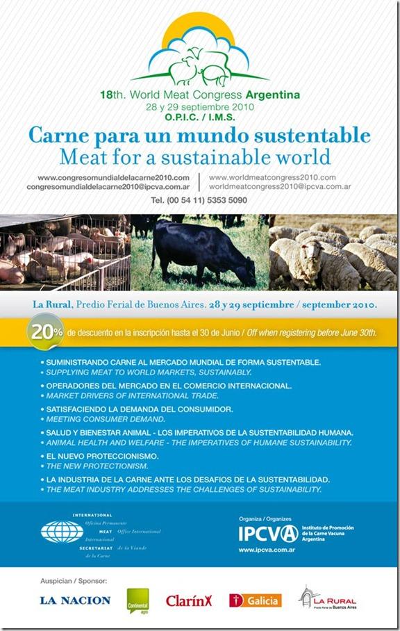 XVIII Congreso Mundial de la Carne, Argentina 2010.
