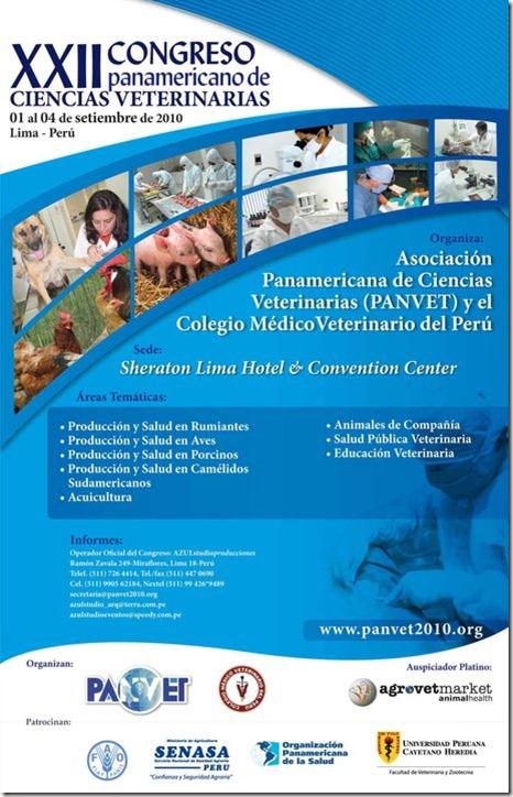 XII Congreso Panamericano de Ciencias Veterinarias PANVET, Perú 2010.