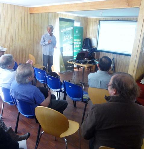 """Proyecto """"Ganadería de precisión"""" finaliza capacitación con charla de Dr. Omar Bellenda en dependencias de la UACh."""